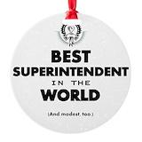 Superintendent Round Ornament