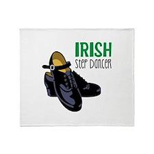 Irish Step Dancer Throw Blanket