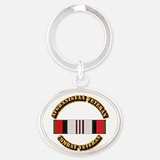 Afhganistan Veteran Oval Keychain