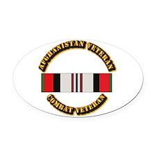 Afhganistan Veteran Oval Car Magnet