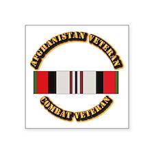 "Afhganistan Veteran Square Sticker 3"" x 3"""