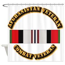 Afhganistan Veteran Shower Curtain