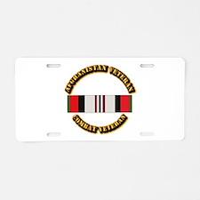 Afhganistan Veteran Aluminum License Plate