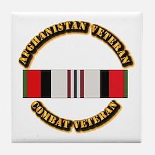 Afhganistan Veteran Tile Coaster