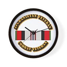 Afhganistan Veteran Wall Clock