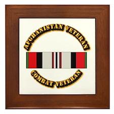 Afhganistan Veteran Framed Tile