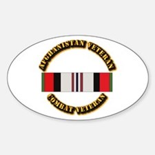 Afhganistan Veteran Sticker (Oval)