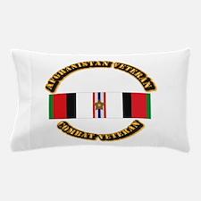 Afhganistan Veteran w Campaign Star Pillow Case