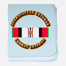 Afhganistan Veteran w Campaign Star baby blanket