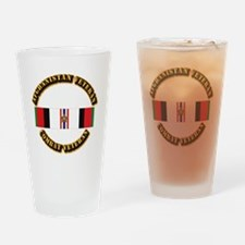 Afhganistan Veteran w Campaign Star Drinking Glass