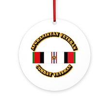 Afhganistan Veteran w Campaign St Ornament (Round)