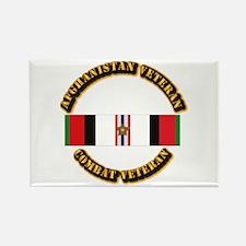 Afhganistan Veteran w Campaign St Rectangle Magnet