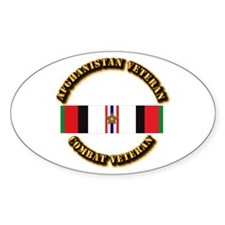 Afhganistan Veteran w Campaign Star Decal