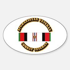 Afhganistan Veteran w Campaign Star Sticker (Oval)