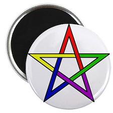 Rainbow Woven Star Magnet