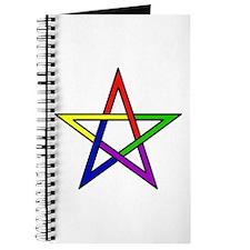 Rainbow Woven Star Journal