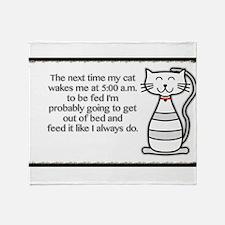 The next my cat.. Throw Blanket