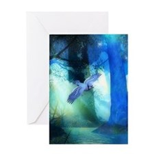 Magical Blue Forrest Greeting Card