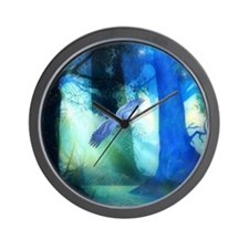 Magical Blue Forrest Wall Clock