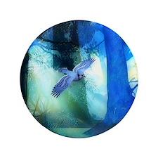 "Magical Blue Forrest 3.5"" Button"