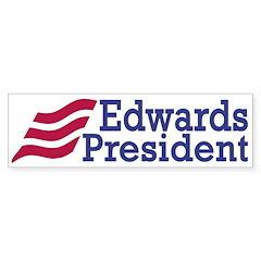 Edwards for President bumper sticker