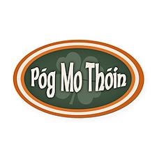Pog Mo Thoin -ov Oval Car Magnet