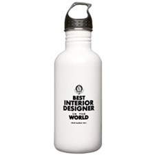 Best Interior Designer in the World Water Bottle