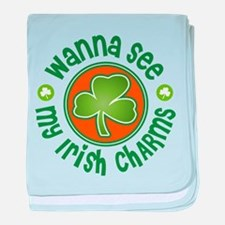 Wanna See My Irish Lucky Charms baby blanket