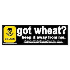 """""""got wheat?"""" Bumper Bumper Bumper Sticker"""