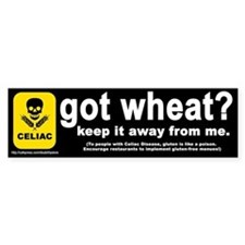 """got wheat?"" Bumper Bumper Sticker"