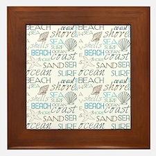Beach Typography Framed Tile