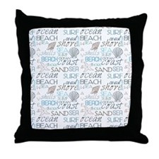 Beach Typography Throw Pillow