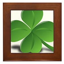 St. Patricks Day Clover Framed Tile