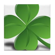 St. Patricks Day Clover Tile Coaster