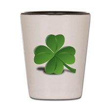 St. Patricks Day Clover Shot Glass