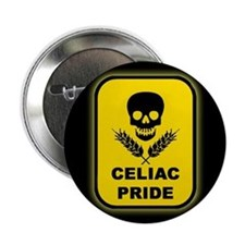Celiac Skull Pride Button