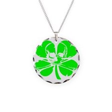 greener Necklace Circle Charm