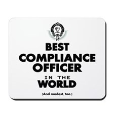 Best Compliance Officer in the World Mousepad