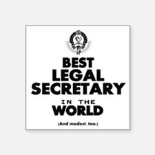 Best Legal Secretary in the World Sticker
