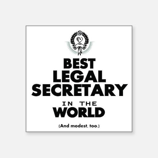 Best Legal Secretary in the World Sticker