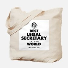 Best Legal Secretary in the World Tote Bag