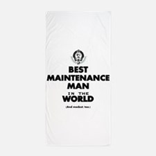 Best Maintenance Man in the World Beach Towel