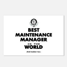 Best Maintenance Manager in the World Postcards (P