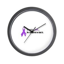 Purple Ribbon Wall Clock