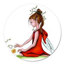 Woodland Fairy Round Car Magnet