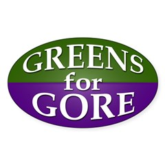 Greens for Gore Oval Bumper Decal
