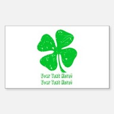 Personalize It, Shamrock Decal