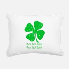 Personalize It, Shamrock Rectangular Canvas Pillow