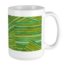 Washed Styled Green Striped Mugs