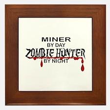 Zombie Hunter - Miner Framed Tile
